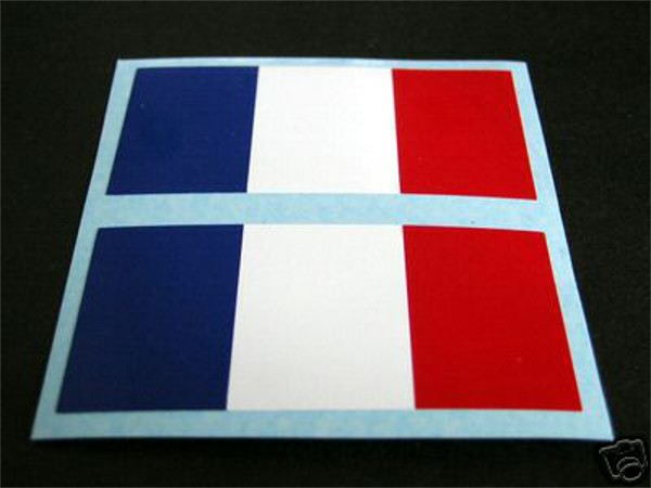 2 Frankreich / FRANCE autocollant / AUFKLEBER / sticker