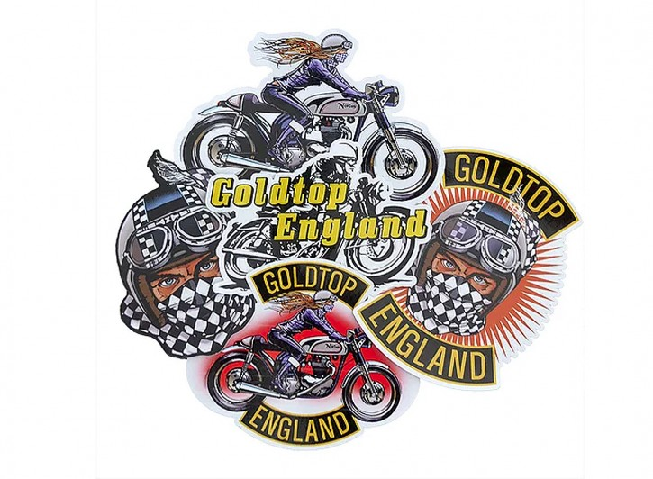 "GOLDTOP Sticker Pack 1 ""Café-Racer"""