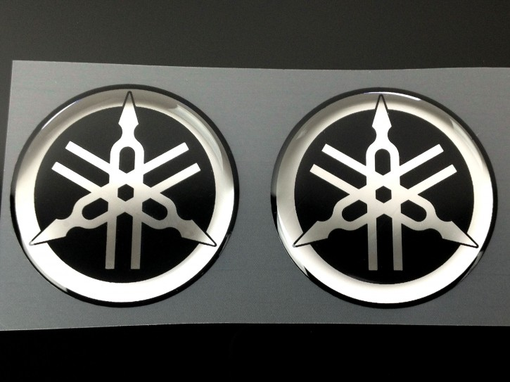 2x 3D-Aufkleber mit Yamaha-Stimmgabel-Logo
