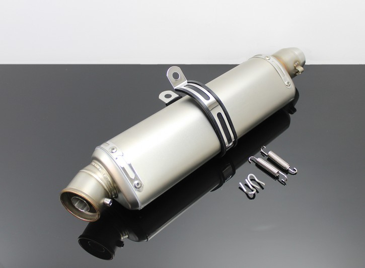 Sporty EXHAUST Stainless Steel incl. Clamp
