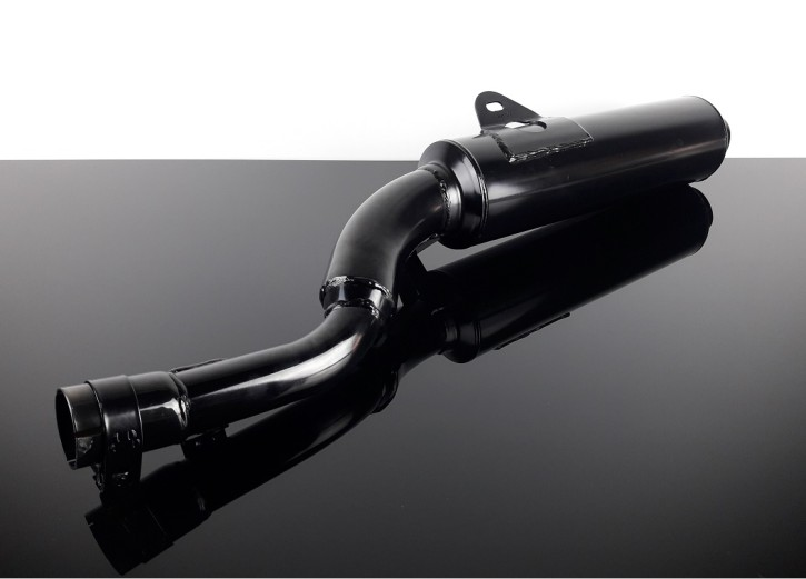 "SILENCER / exhaust system, Marving ""EDR"", black chrome-plated, f. YAMAHA XT600 -89, ""e""-marked"