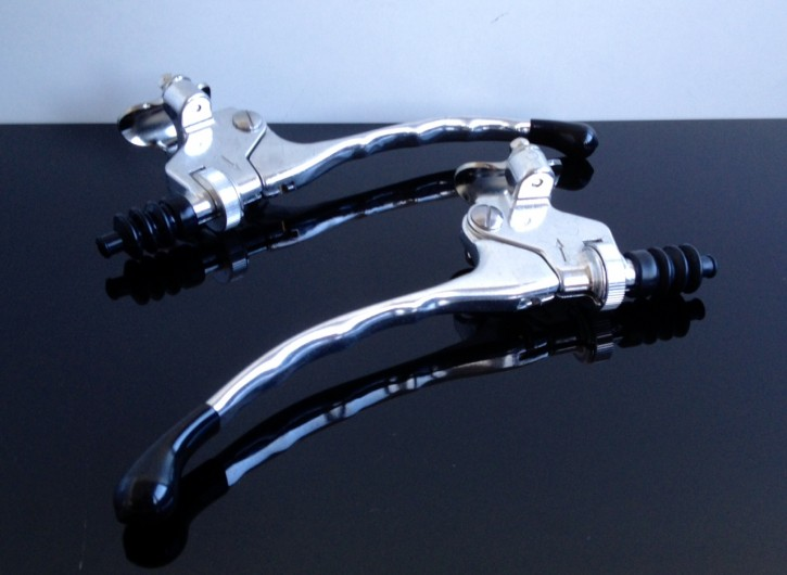2 Control levers BRAKE + CLUTCH, alloy, 7/8""