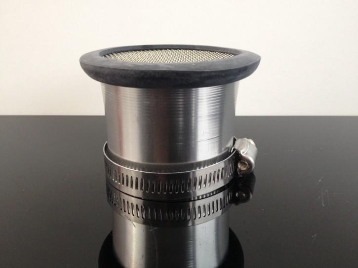 Alu-ANSAUGTRICHTER + Sieb,  55mm f. Mikuni VM36 + andere