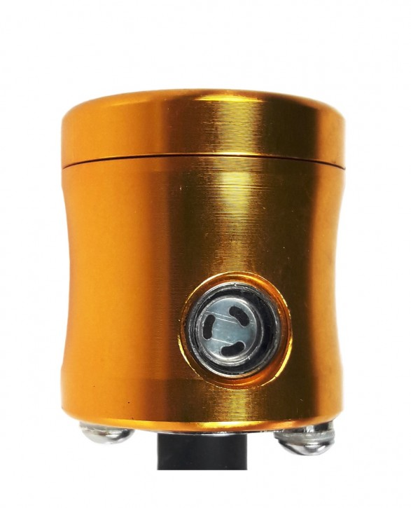 RESERVOIR for BRAKE and CLUTCH FLUID, alloy, gold-coloured