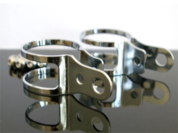 1 Paar Blinkerhalter Chrom Gabelklemmen universal 40-45mm