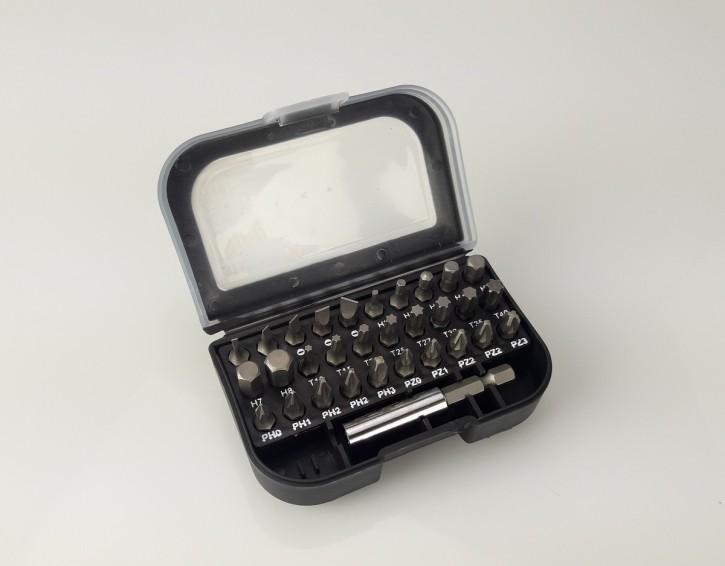 31-teiliges BIT-SET in praktischer Box mit Gürtelclip, Ausverkauf
