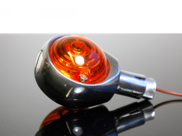 1 OCHSENAUGEN-Blinker, Aluminium poliert