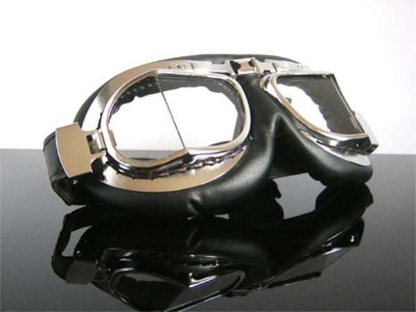 Helmet-goggles/glasses, chrome