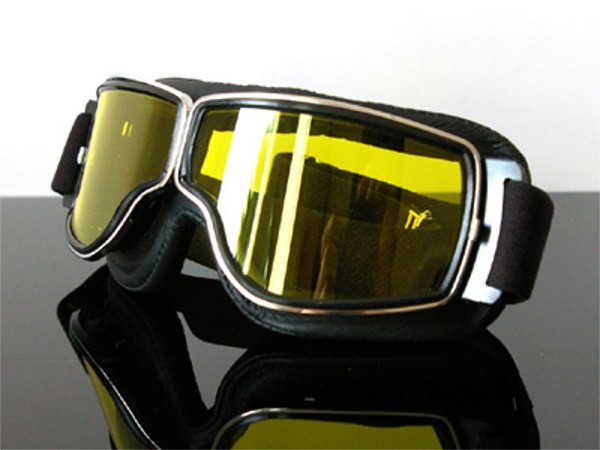 "Motorcycle Goggles ""AVIATOR"" for spectacle wearers!"