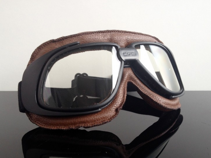 Motorcycle goggles, brown