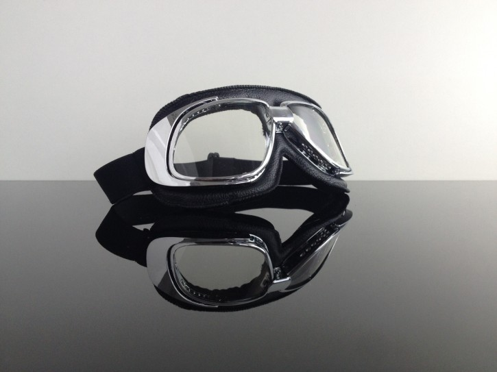 Helmet-goggles/glasses, black chrome