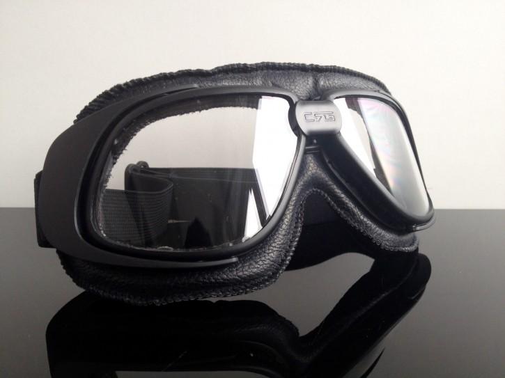 MOTORRADBRILLE / Motorrad-Brille / Goggles, modern, schwarz