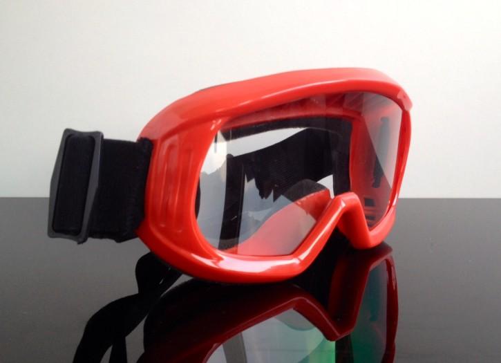 Motocross ENDURO Cross MOTORRADBRILLE Motorrad-Brille Goggles MX, rot
