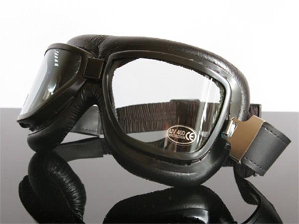 Motorradbrille Goggles für Jet-Helm, schwarz (for open face helmets, black)