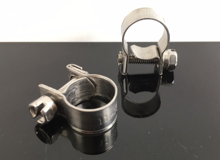 2 Fuel Feed PIPE clamps for 8 mm fuel feed pipe