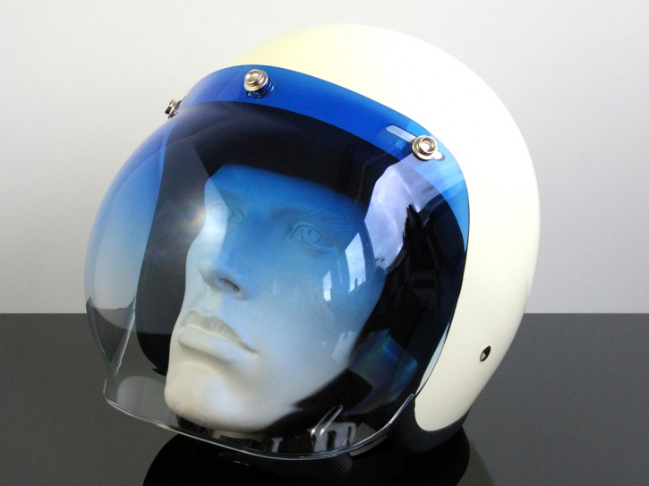 Bubblevisor / WINDSCHILD für Jethelm / HELM (Jet HELMET / Casque du jet), blau / klar