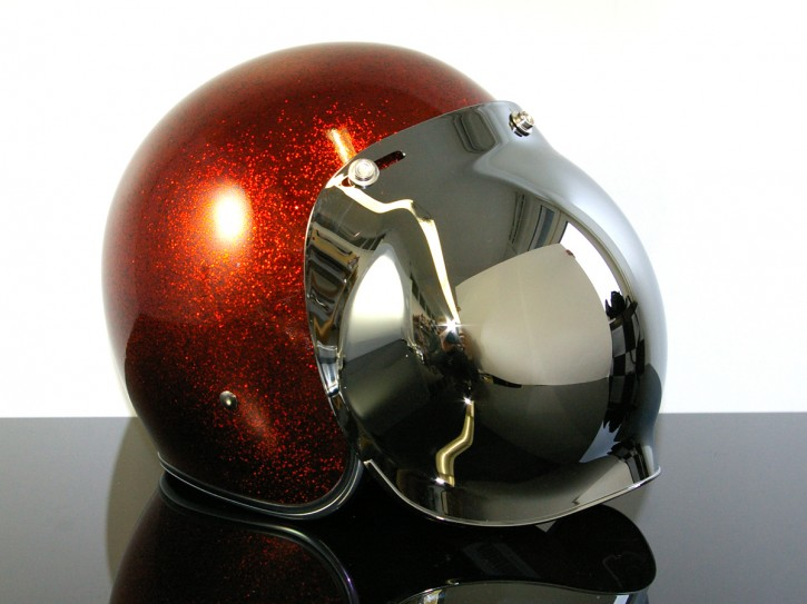 Bubblevisor for Jet HELMETs, CHROME