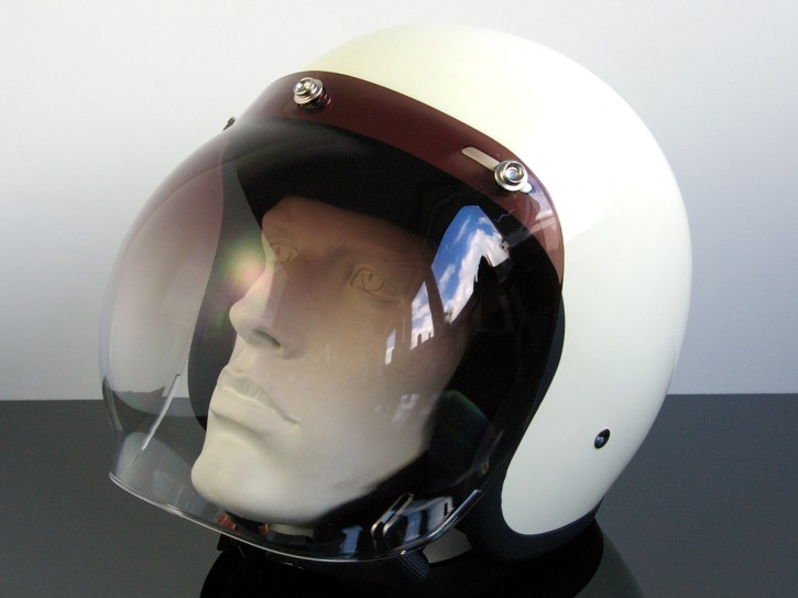 Bubblevisor/WINDSCHILD für Jethelm/HELM (Jet HELMET/Casque du jet), schwarz/klar