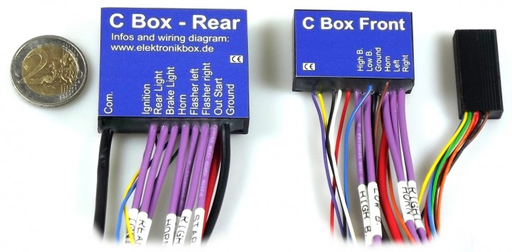 ELECTRONICBOX w. digit. WIRING HARNESS / Controller by Axel Joost, Version C, incl. 2 handlebar adapters