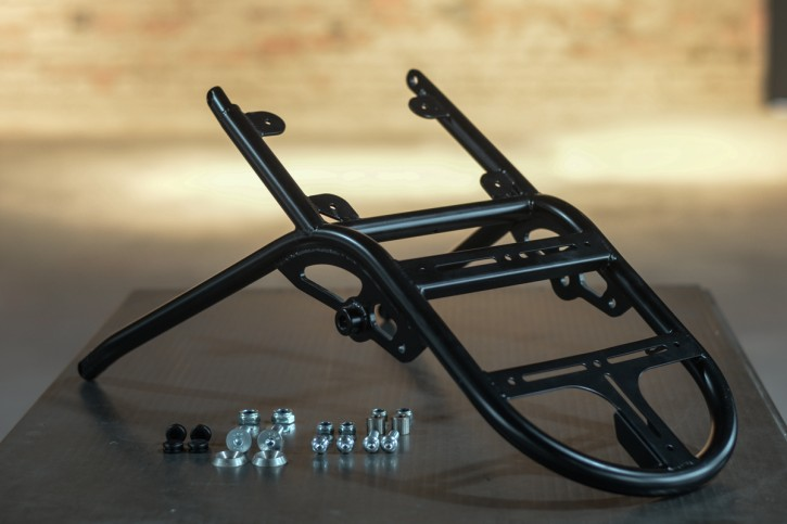 "REAR FRAME ""Trusty Truss"" by BHCKRT, f. BMW 2-valve models with duolever, black"