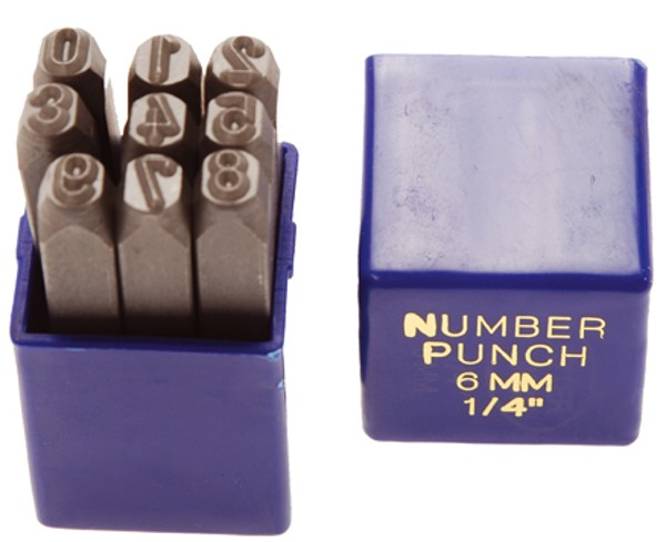 Blanking numbers, 2,5 mm