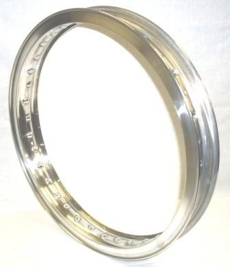 "UNDRILLED WHEEL RIM, 1.85x18"" for 40 spokes, polished aluminium"
