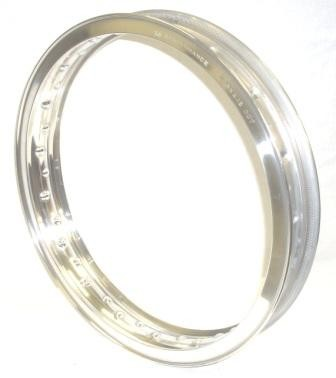 "WHEEL RIM, 2.15x18"" for 40 spokes, polished aluminium"
