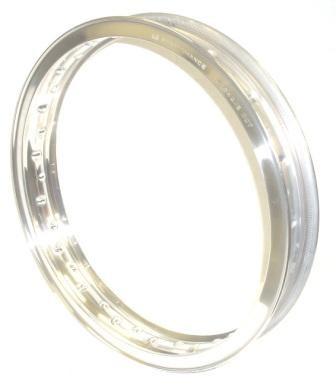 "WHEEL RIM, 2.15x18"" for 36 spokes, polished aluminium"