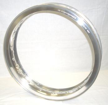 "WHEEL RIM, 2.50x18"" for 40 spokes, polished aluminium"