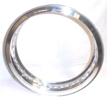 "WHEEL RIM, 3.00x18"" for 40 spokes, polished aluminium"