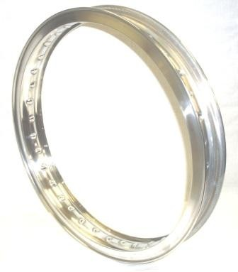 "WHEEL RIM, 1,85x19"" for 40 spokes, polished aluminium"