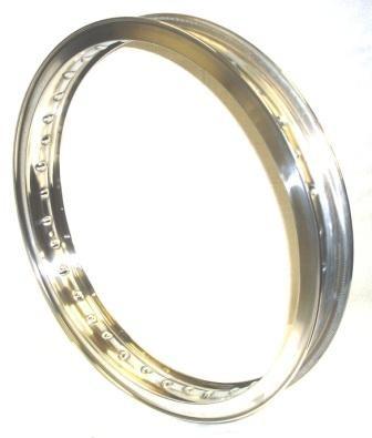 "WHEEL RIM, 1,85x19"" for 36 spokes, polished aluminium"