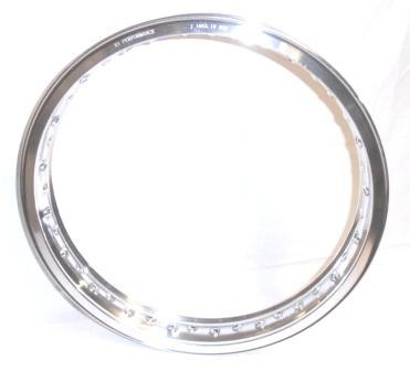 "WHEEL RIM, 2.15x19"" for 40 spokes, polished aluminium"