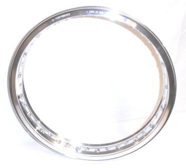 "WHEEL RIM 2,15x19"" for 36 spokes, polished aluminium"