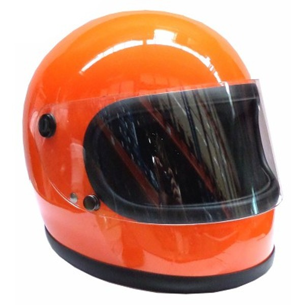 HELM / Integralhelm 70s Orange