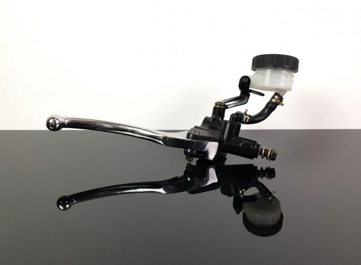 """Bremshebel-ARMATUR mit Ausgleichsbehälter, universal, 22mm (7/8""""), schwarz/chrom"""