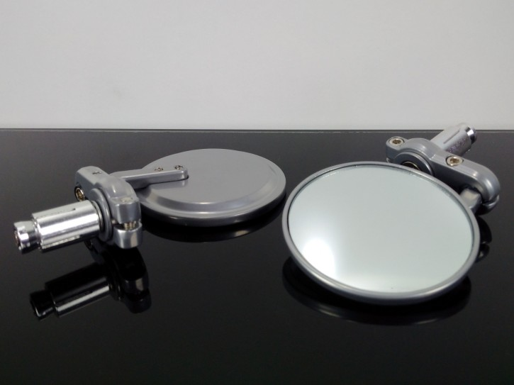 2 small handle bar MIRRORS, alloy