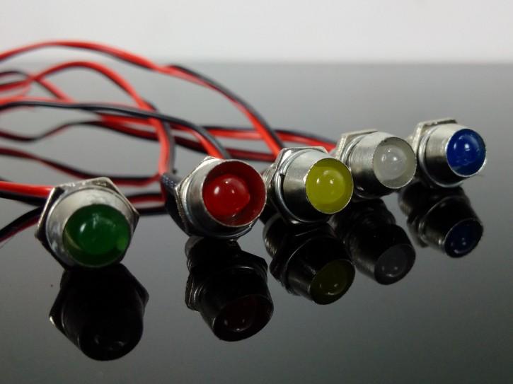 KONTROLLLEUCHTEN, 5 LEDs mit Fassung, 7mm