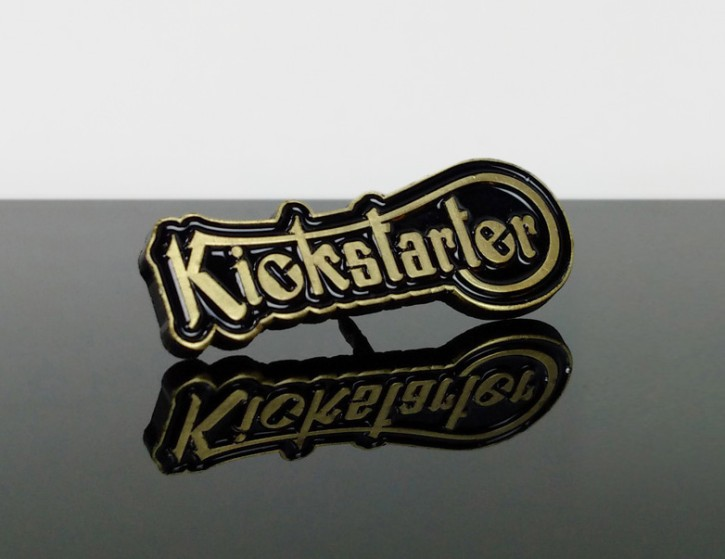 "Pin on lapel badge ""KICKSTARTER"""