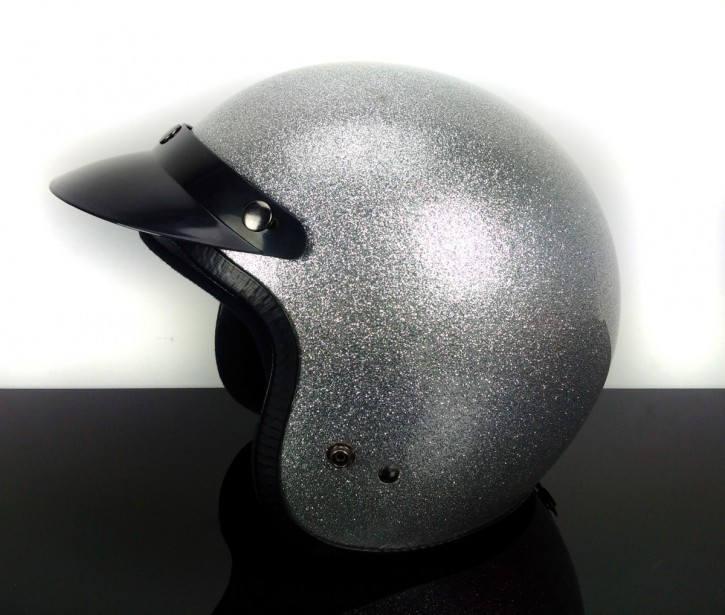 Shield, Visor for retro jet-helmet, (black) Helmet NOT included!