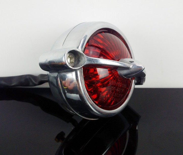 TAIL LIGHT, homologated, silver, polished