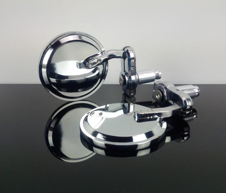 2 Mini-SPIEGEL Lenkerspiegel, Aluminium
