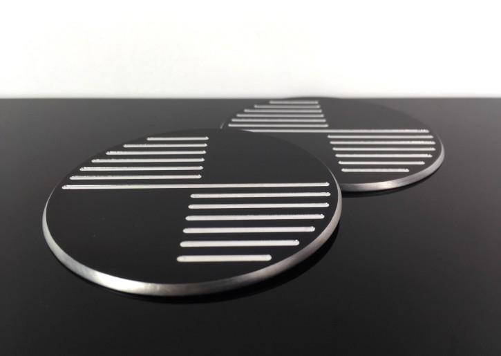 2 TANKEMBLEME für BMW, 70mm, CNC-gefräst