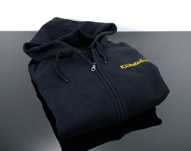 KICKSTARTER Zip-Hoodie, Zipper, black  XXL