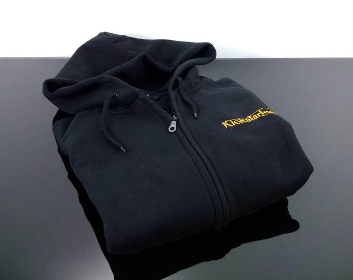 KICKSTARTER Zip-Hoodie, Zipper, black  S