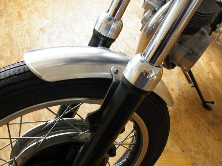 "CAFE-RACER ALLOY front Fender Yamaha SR 500 with 18"" front tire"