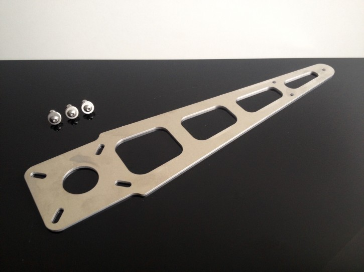 Front FENDER BRACKET for Motocross. Alloy, silver