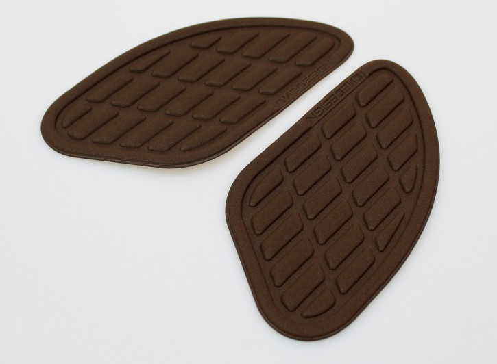 2 Tank Protectors / KNEE PADS, Soft Touch, brown