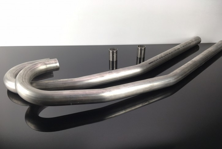 2 DOWNPIPES, stainless steel, for BMW-R with Duolever, D=42,4mm