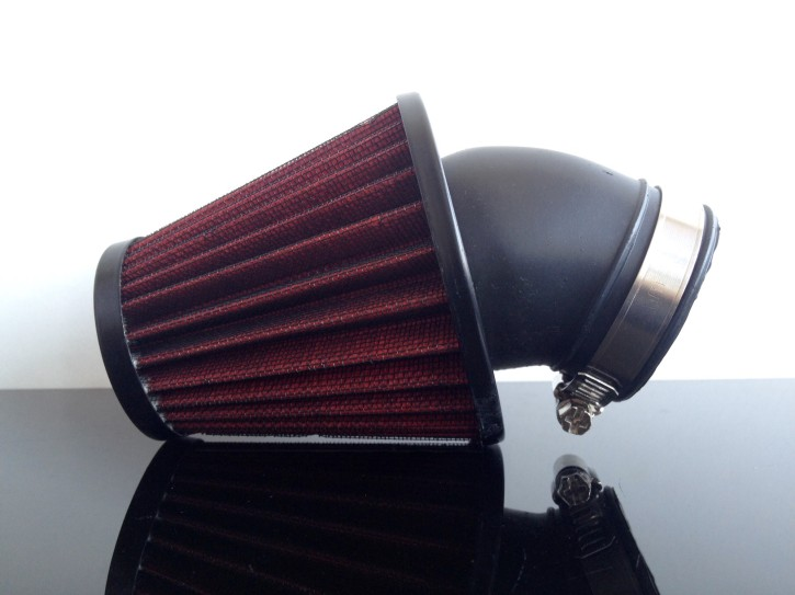 Performance AIR FILTER, app. 45-48mm, 45°connection, RED